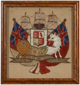 Nautical Embroidery, United Kingdom Coat of Arm