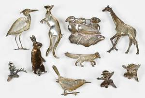 10 V. Pond Sterling Silver Brooches and Pins