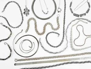 18 Sterling Silver Necklaces