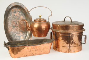 Four Pieces French Copper