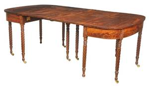 Federal Carved Mahogany Two Part Dining Table