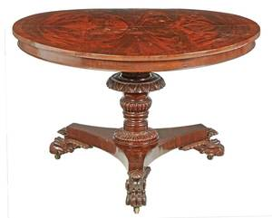 Classical Carved Mahogany Center Table