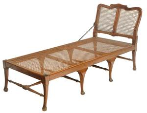 Queen Anne Style Walnut Reclining Daybed