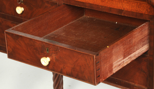 New England Sheraton Dressing Chest with Mirror