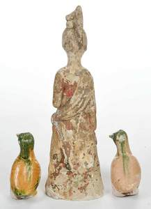 Three Tang Dynasty Pottery Figures