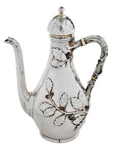 Whiting Sterling Mixed Metal Coffee Pot