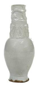 Chinese Longquan Celadon Figural Vase