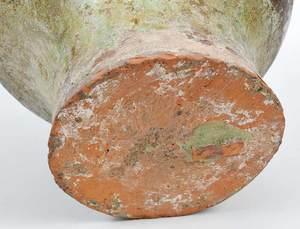 Chinese Celadon Ceramic Redware Vessel
