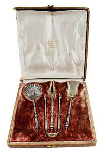 Cased Gilt French Silver Flatware