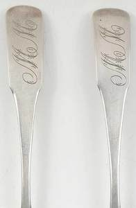 Two Vogler Coin Silver Spoons