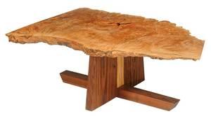 Nakashima Style Burl Maple Low Table