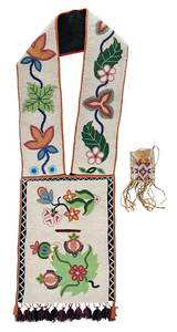 Great Lakes Beaded Bandolier Bag