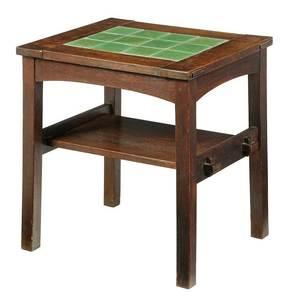 Stickley Craftsman Twelve Tile Tea Table