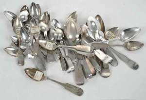 NY State Coin Silver Spoons, Approx. 56 Pieces