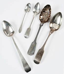 PA Coin Silver Spoons, Approx. 58 Pieces