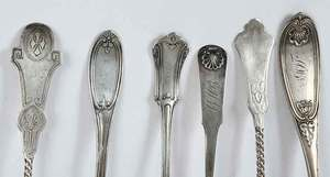 Patterned Coin Silver Spoons, Approx. 22 Pieces