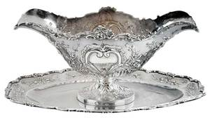 French Silver Sauce Boat