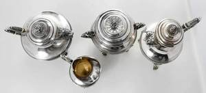 Four Piece French Silver Individual Tea Service