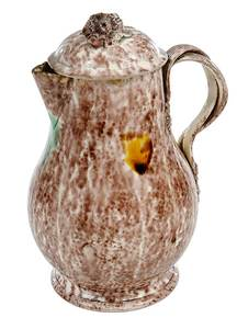 Staffordshire Whieldon Type Covered Milk Pitcher