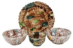 Four Pieces Whieldon Type Creamware