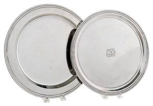 Two Tiffany Sterling Round Trays