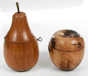 Apple and Pear Form Tea Caddies