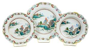 Canton Chinese Export PorcelainPartial Service