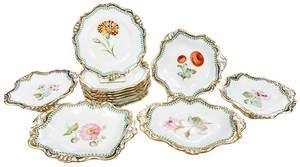 13 Piece Davenport Floral Dessert Set