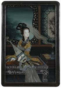 Three Chinese Reverse Paintings on Glass