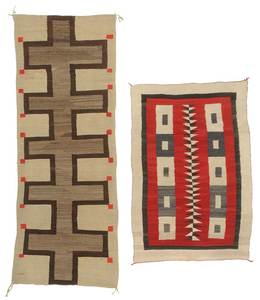 Two Navajo Weavings Including Runner