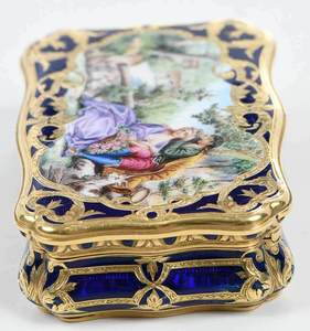 French 14kt. Gold and Enamel Box