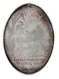 Commemorative Washington Silver Peace Medal