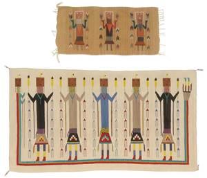Two Southwestern Yei Weavings