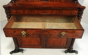 George IV Figured Mahogany Bookcase Cabinet