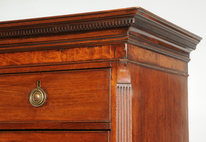 George III Carved Mahogany Chest on Chest