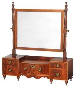 Federal Figured Mahogany Dressing Mirror