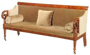 Classical Carved Mahogany Sofa