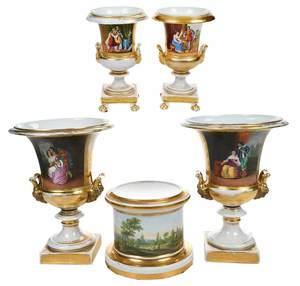 Four Paris Porcelain Urns