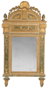 Italian Neoclassical Paint Decorated Mirror