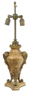 Louis XV Style Gilt Bronze Mounted Marble Lamp