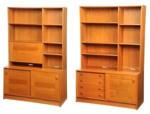Two Similar Danish Modern Bookcases
