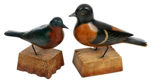 Two Frank Finney Bird Carvings