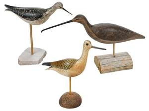 Three Contemporary Shorebird Decoys