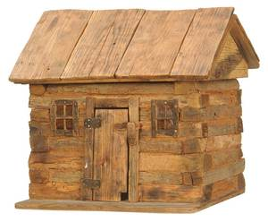 Reverend Russell Gillespie  Log Cabin Miniature