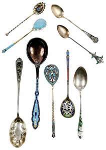 21 Plique-À-Jour and Enamel Silver Spoons