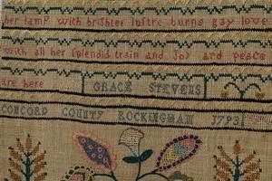 1793 Rockingham New Hampshire Signed Sampler