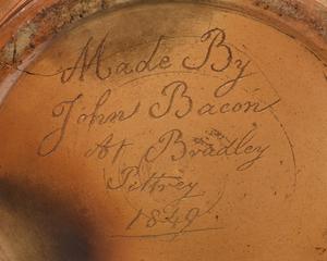 Large Signed Stoneware Advertising Jug