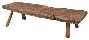 A Rare Early Plank Top Low Table