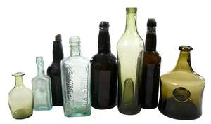 Group of Eight Glass Bottles