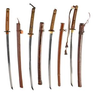 Four Samurai Swords